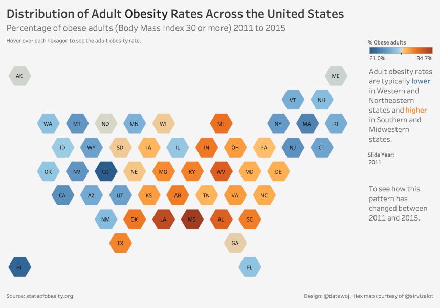 US Adult Obesity Rates